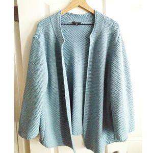 Eileen Fisher Chunky Sweater Cardigan! Sz: 2X
